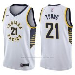 Camiseta Indiana Pacers Thaddeus Young #21 Association 2017-18 Blanco