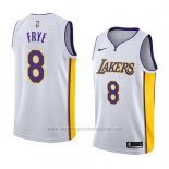 Camiseta Los Angeles Lakers Channing Frye #8 Association 2018 Blanco