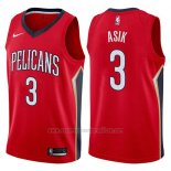 Camiseta New Orleans Pelicans Omer Asik #3 Statement 2017-18 Rojo