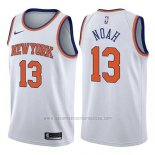 Camiseta New York Knicks Joakim Noah #13 Association 2017-18 Blanco