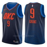 Camiseta Oklahoma City Thunder Jerami Grant #9 Statement 2017-18 Azul