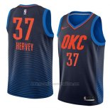 Camiseta Oklahoma City Thunder Kevin Hervey #37 Statement 2018 Azul