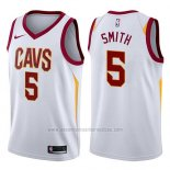 Camiseta Cleveland Cavaliers J.R. Smith #5 Association 2017-18 Blanco