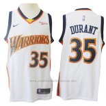 Camiseta Golden State Warriors Kevin Durant #35 Mitchell & Ness 2009-10 Blanco