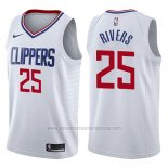 Camiseta Los Angeles Clippers Austin Rivers #25 Association 2017-18 Blanco