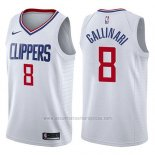 Camiseta Los Angeles Clippers Danilo Gallinari #8 Association 2017-18 Blanco