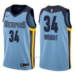 Camiseta Memphis Grizzlies Brandan Wright #34 Statement 2017-18 Azul