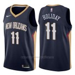 Camiseta New Orleans Pelicans Jrue Holiday #11 Icon 2017-18 Azul
