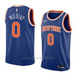 Camiseta New York Knicks Emmanuel Mudiay #0 Icon 2018 Azul
