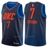 Camiseta Oklahoma City Thunder Carmelo Anthony #7 Statement 2017-18 Azul