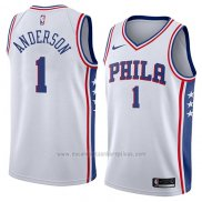 Camiseta Philadelphia 76ers Justin Anderson #1 Association 2018 Blanco