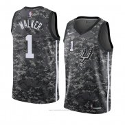 Camiseta San Antonio Spurs Lonnie Walker #1 Ciudad 2018 Gris