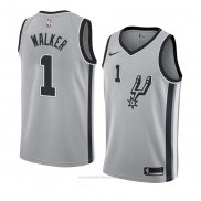 Camiseta San Antonio Spurs Lonnie Walker #1 Statement 2018 Gris2