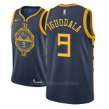 Camiseta Golden State Warriors Andre Iguodala #9 Ciudad 2018-19 Azul