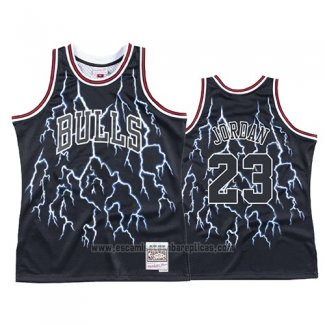 Camiseta Lightning Chicago Bulls Michael Jordan #23 Negro