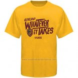 Camiseta Manga Corta Cleveland Cavaliers Amarillo NBA Playoffs Slogan Whatever It Takes