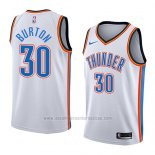 Camiseta Oklahoma City Thunder Deonte Burton #30 Association 2018 Blanco