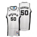 Camiseta San Antonio Spurs David Robinson #50 Retro Blanco