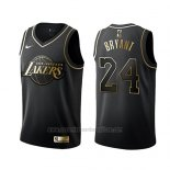 Camiseta Golden Edition Los Angeles Lakers Kobe Bryant #24 Negro