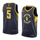 Camiseta Indiana Pacers Edmond Sumner #5 Icon 2018 Azul