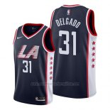 Camiseta Los Angeles Clippers Angel Delgado #31 Ciudad 2019 Azul