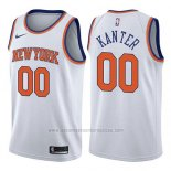 Camiseta New York Knicks Enes Kanter #00 Association 2017-18 Blanco