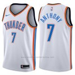 Camiseta Oklahoma City Thunder Carmelo Anthony #7 2017-18 Blanco