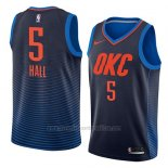 Camiseta Oklahoma City Thunder Devon Hall #5 Statement 2018 Azul