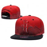 Gorra Houston Rockets Snapback Rojo Negro