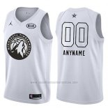 Camiseta All Star 2018 Minnesota Timberwolves Nike Personalizada Blanco