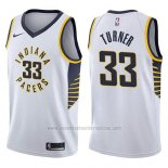 Camiseta Indiana Pacers Myles Turner #33 Association 2017-18 Blanco
