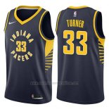 Camiseta Indiana Pacers Myles Turner #33 Icon 2017-18 Azul