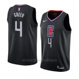 Camiseta Los Angeles Clippers Jamychal Green #4 Statement 2019 Negro