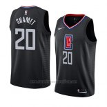 Camiseta Los Angeles Clippers Landry Shamet #20 Statement 2019 Negro