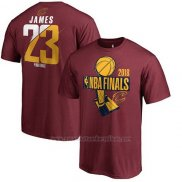 Camiseta Manga Corta Cleveland Cavaliers Rojo 2018 Eastern Conference Champions Lebron James