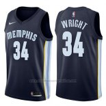 Camiseta Memphis Grizzlies Brandan Wright #34 Icon 2017-18 Azul