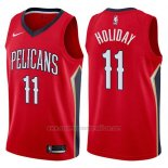 Camiseta New Orleans Pelicans Jrue Holiday #11 Statement 2017-18 Rojo