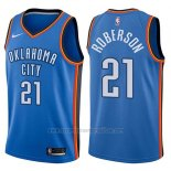 Camiseta Oklahoma City Thunder Andre Roberson #21 Swingman Icon 2017-18 Azul