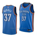 Camiseta Oklahoma City Thunder Kevin Hervey #37 Icon 2018 Azul
