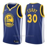 Nike Camiseta Golden State Warriors Stephen Curry #30 2017-18 Azul