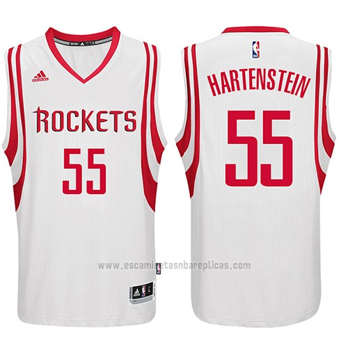 Camiseta Houston Rockets Isaiah Hartenstein #55 Home 2017-18 Blanco