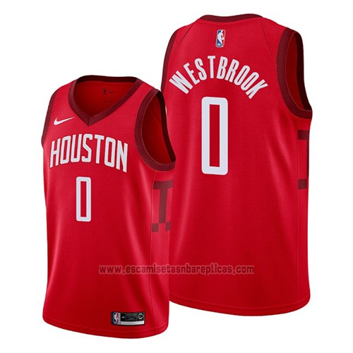 Camiseta Houston Rockets Russell Westbrook #0 Earned 2019 Rojo