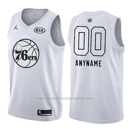 Camiseta All Star 2018 Philadelphia 76ers Nike Personalizada Blanco