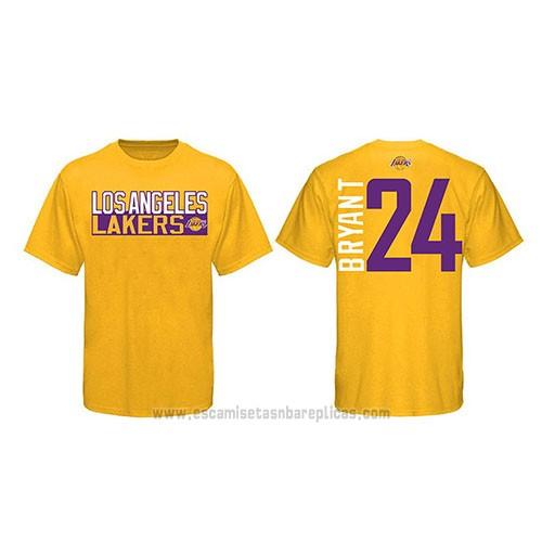 Camiseta Manga Corta Kobe Bayant Los Angeles Lakers Amarillo2